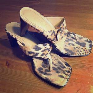 Franco Sarto flip flop heels